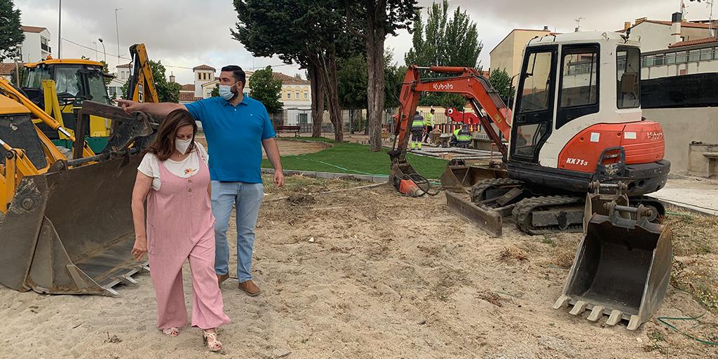 Comienzan la segunda fase de las obras del parque de La Huerta