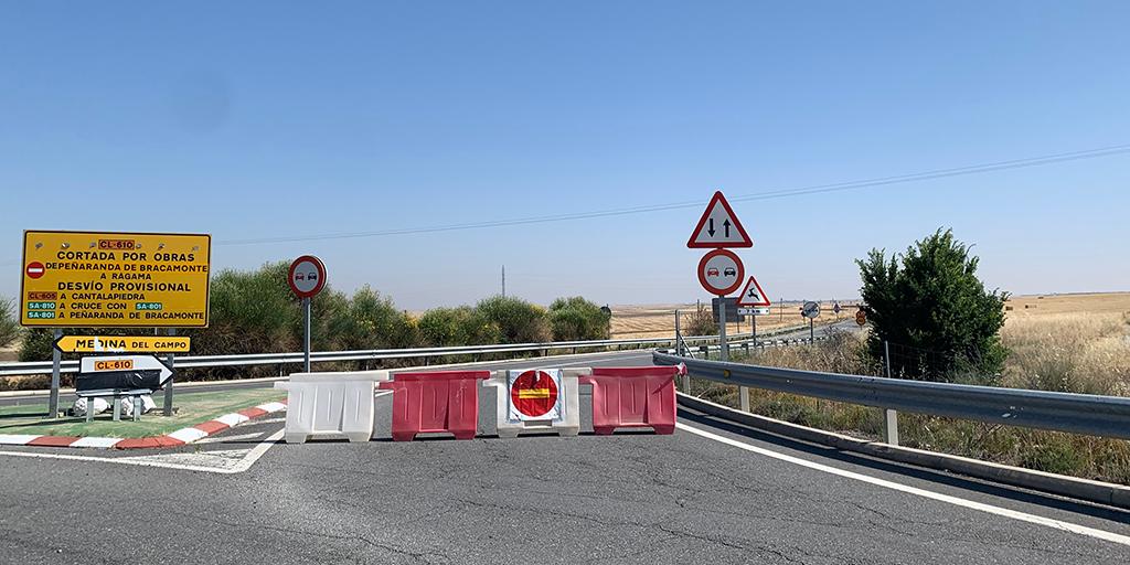 La carretera entre Rágama y Peñaranda vuelve a ser cortada al tráfico