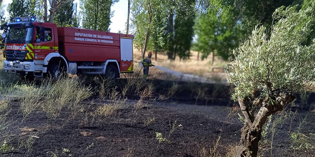 Los bomberos sofocaron un fuego en El Inestal