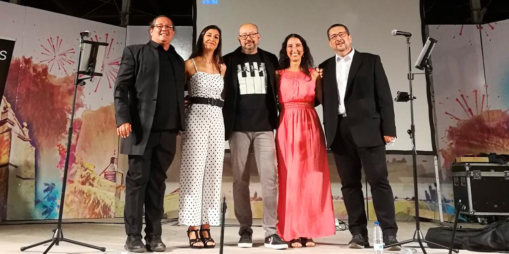El quinteto Vocalis actuó el martes de ferias en Peñaranda