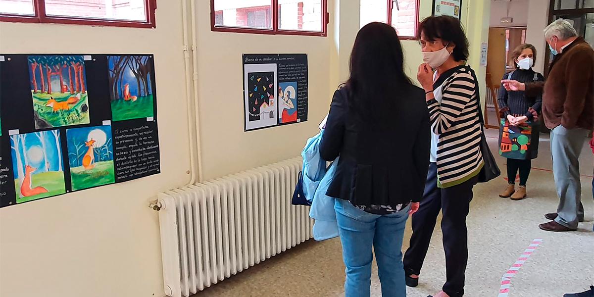 Elisa Delibes visitó los trabajos en el IES Peñaranda