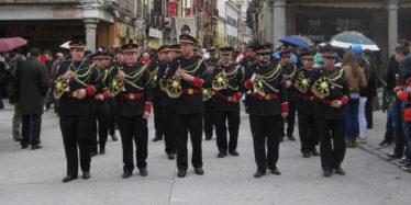 La banda de tambores y corneta de Peñaranda
