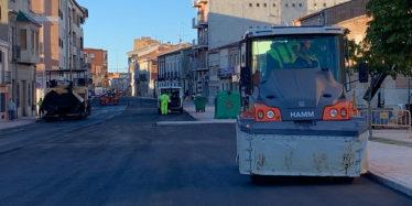 La Diputación inicia el asfaltado de la travesía de la carretera a Mancera