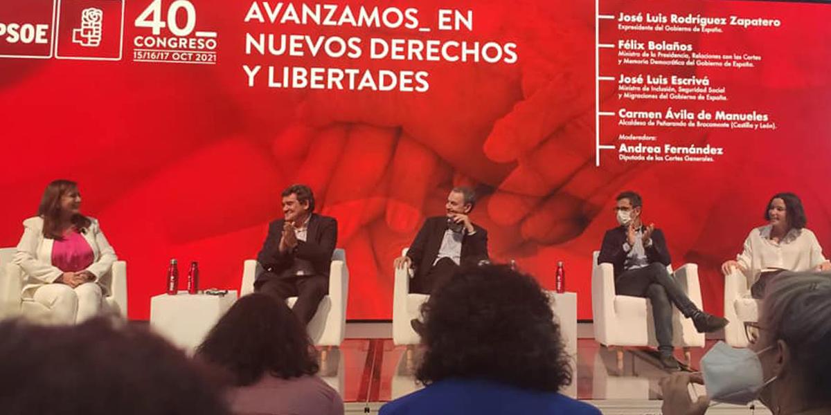 Carmen Ávila ha participado en el 40º congreso del PSOE
